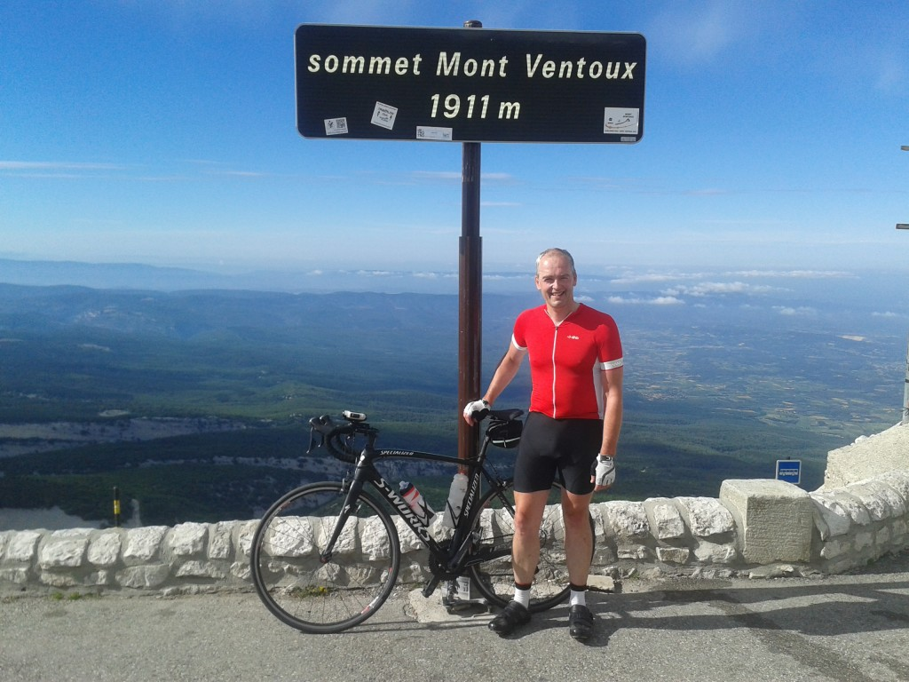 At the top of Mont Ventoux
