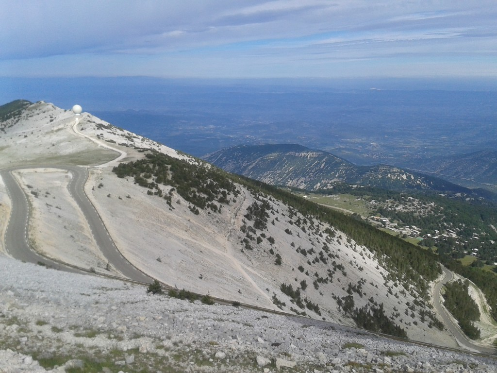View from top of Mont Ventoux
