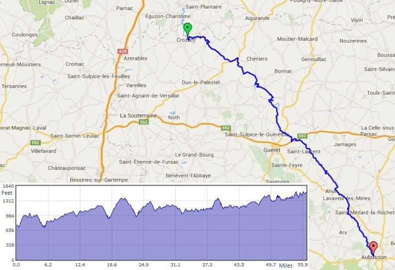 """Crozant to Aubusson route map"""" width="""